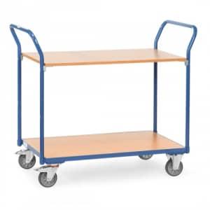 Tischwagen mit 2 Holzböden - Tragkraft 200 kg