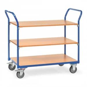 Tischwagen mit 3 Holzböden - Tragkraft 200 kg