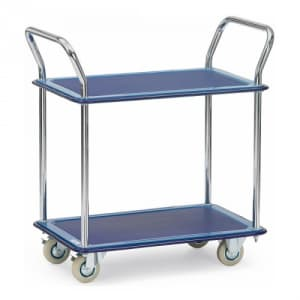 Ganzstahlwagen mit 2 Böden - Tragkraft 120 kg
