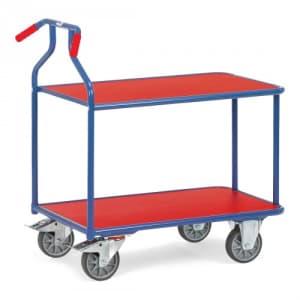 Optiliner-Tischwagen mit 2 Holzböden - Tragkraft 400 kg