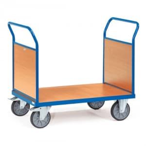 Doppel-Stirnwandwagen mit Holzwänden - Tragkraft 500 / 600 kg