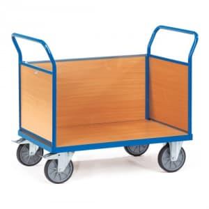 Dreiwandwagen mit Holzwänden - Tragkraft 500 / 600 kg