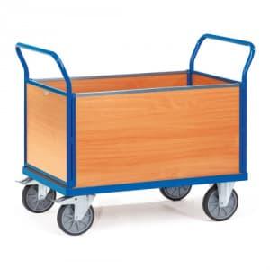 Vierwandwagen mit Holzwänden - Tragkraft 400 / 500 kg