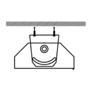 Schwenkwinkelsatz zur Wand-/Deckenmontage für X-LUX PREMIUM