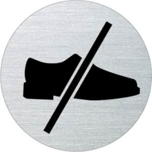 Piktogramm - Mit Schuhen betreten verboten (rund)