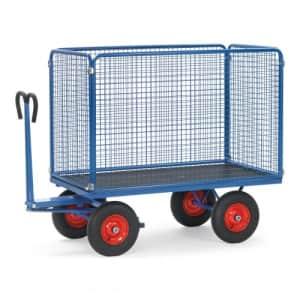 Handpritschenwagen mit Drahtgitterwänden - Höhe 1000 mm - Tragkraft 420 / 490 kg