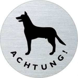 Textschild / Piktogramm - Achtung Hund