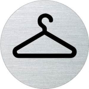 Piktogramm - Garderobe Motiv 1  (rund)