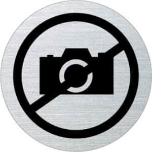 Piktogramm - Fotografieren verboten (rund, mit Rand)