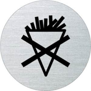 Piktogramm - Essen verboten (rund, ohne Rand)