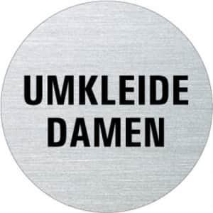 Textschild - Umkleide Damen (rund)