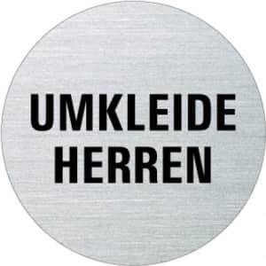 Textschild - Umkleide Herren (rund)