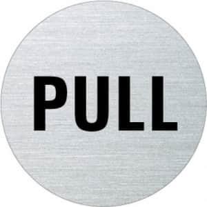 Textschild - Pull (rund)