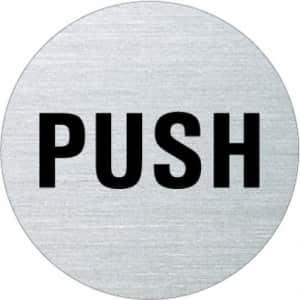 Textschild - Push (rund)