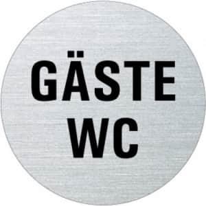 Textschild - Gäste-WC (rund)