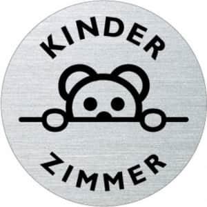 Textschild+Symbol - Kinderzimmer