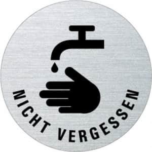 Textschild - Hände waschen nicht vergessen (rund)