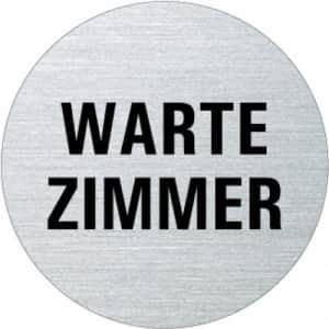 Textschild - Wartezimmer (rund)