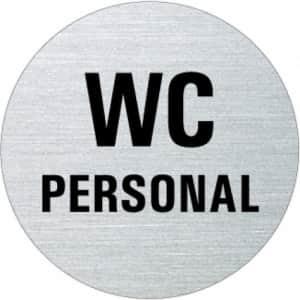 Textschild - WC Personal (rund)