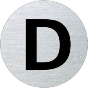 Textschild - D (rund)