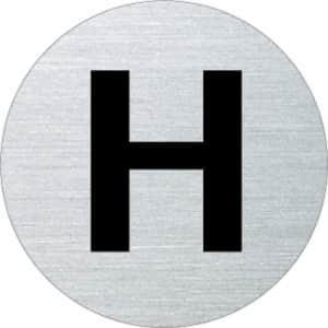 Textschild - H (rund)