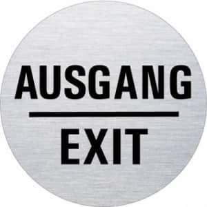 Textschild - Ausgang/Exit (rund)