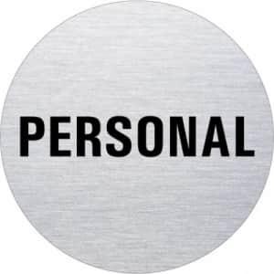 Textschild - Personal (rund)