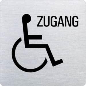 Piktogramm - Behindertengerechter Zugang (ecken abgerundet )
