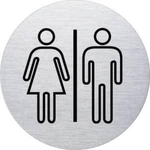Piktogramm - Damen/Herren (rund, Motiv 2)
