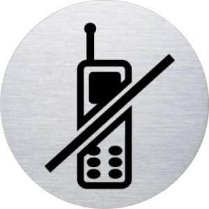 Piktogramm - Handys verboten (rund, ohne Rand - Motiv 2)