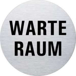 Textschild - Warteraum (rund)