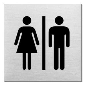 Piktogramm - Damen/Herren (quadratisch)