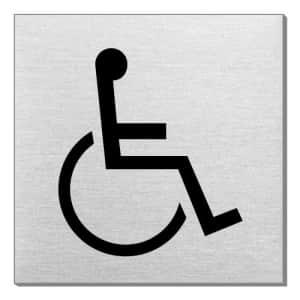 Piktogramm - Rollstuhlfahrer (quadratisch)