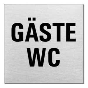 Textschild - Gäste-WC (quadratisch)