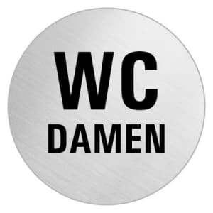Textschild - WC Damen (rund)