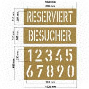 Schablonensatz 2 (8 teiliges Set)
