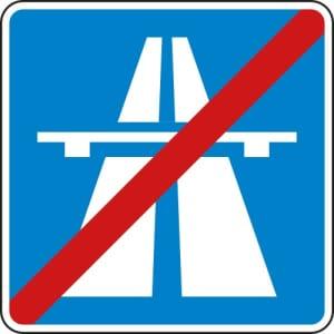 VZ 330.2 Ende der Autobahn StVO Hinweisschild