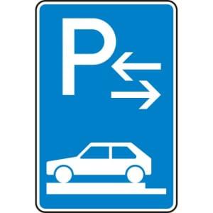 Verkehrszeichen 315-83 Parken auf Gehwegen Schild (Mitte)