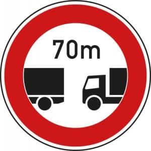 VZ 273 Verkehrsschild: Verbot des Fahrens ohne Mindestabstand