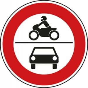 VZ 260 - Verkehrsschild Verbot für Krafträder