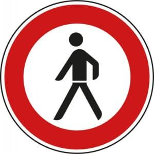 VZ 259 - Verkehrsschild Verbot für Fußgänger