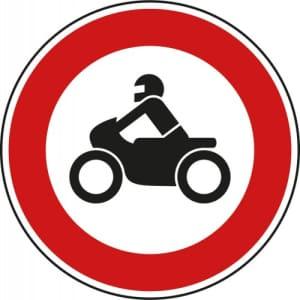 VZ 255 - Verkehrsschild Verbot für Krafträder...