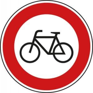 VZ 254 Verbot für Radverkehr - Verkehrsschild