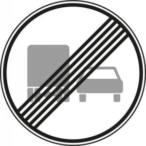 VZ 281 - Verkehrsschild Ende des Überholverbotes