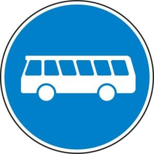 VZ 245 Bussonderfahrstreifen - Verkehrsschild