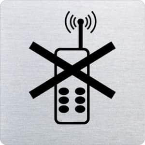 Piktogramm - Handys verboten (ecken abgerundet)