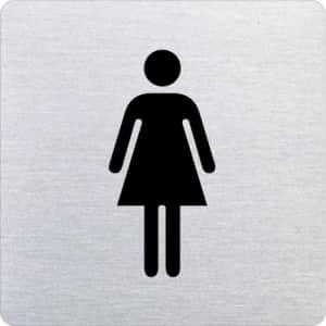 Piktogramm - Damen (ecken abgerundet)