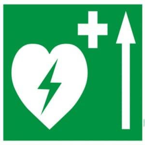 Defibrillator Pfeil oben (BGV A8  VBG 125)