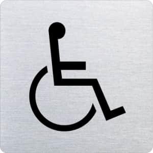 Piktogramm - Rollstuhlfahrer (ecken abgerundet)