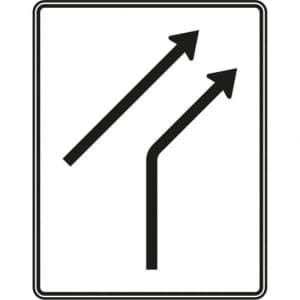 VZ 521-20 - Verkehrsschild Zusammenführungstafel